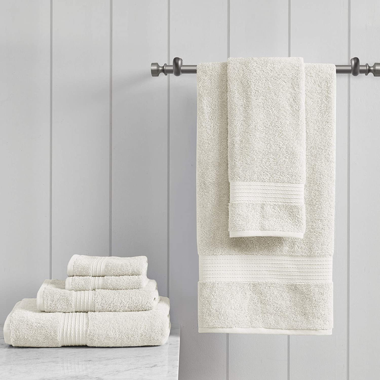 Madison Park Organic Towel Set, See Below, Ivory