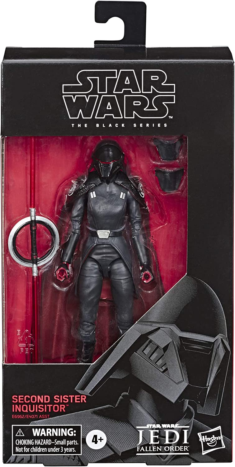 STAR WARS BLACK SERIES CARBONIZED GRAPHITE RED BOX #95 SECOND SISTER INQUISITOR