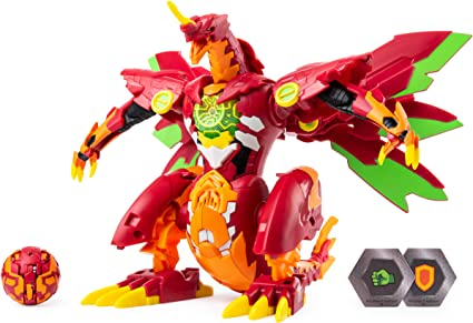 "Bakugan Battle Planet Dragonoid Maximus 8/"" Transforming Figure New Action Toy"