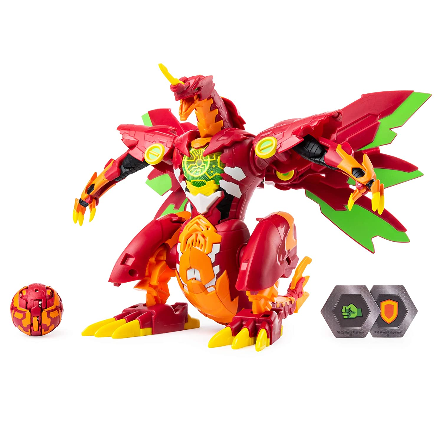Dragonoid Maximus 8-Inch Transforming Figure with Lights and Sounds for Ages 6 and Up Bakugan