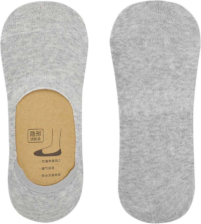 UMIPUBO 10 Pares Calcetines para hombres Invisibles De Algod/ón Calcetines Cortos El/ástco Con Silicona Antideslizante Anti-olor