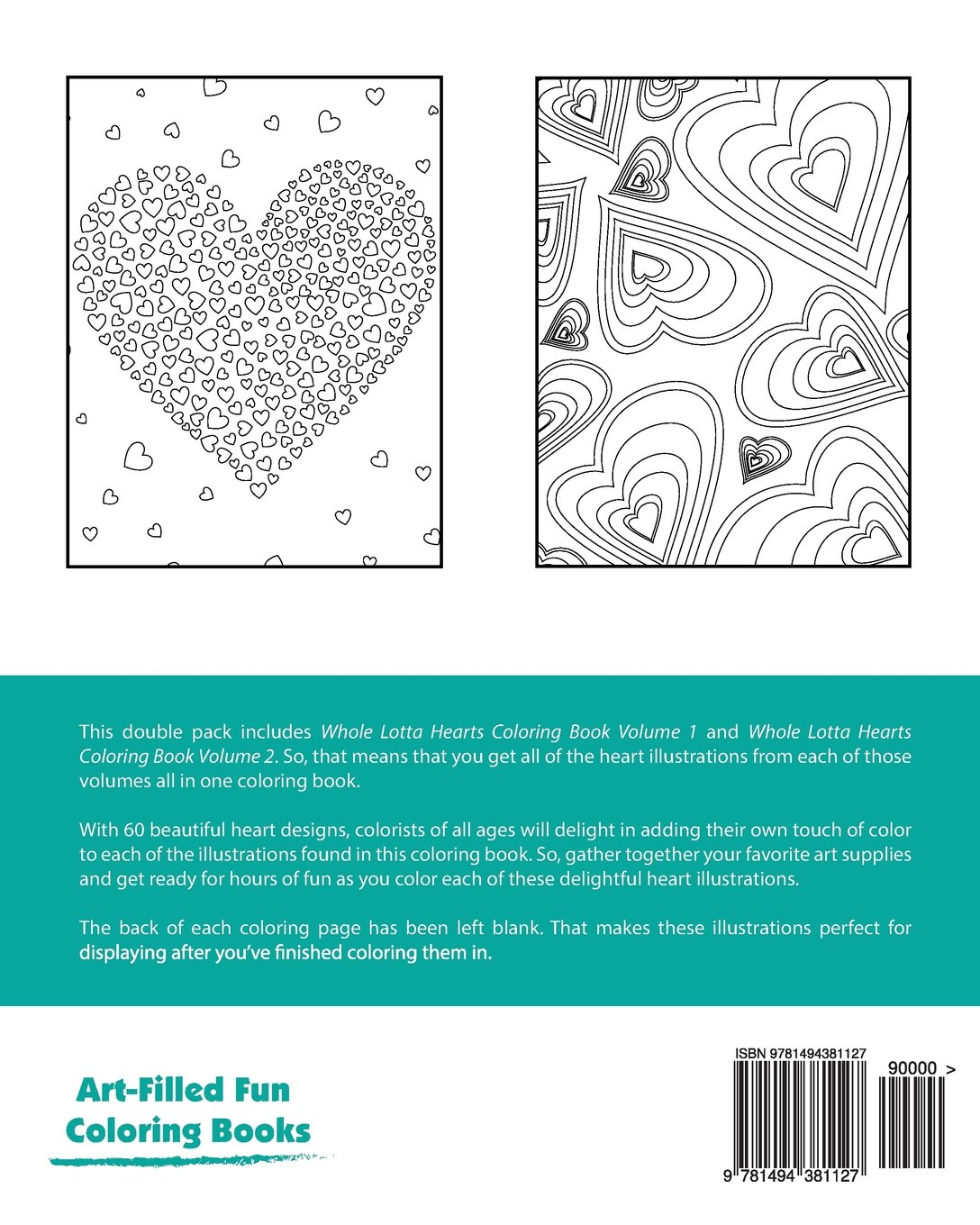 Whole Lotta Hearts Coloring Book Double Pack (Volumes 1 & 2) (Art ...