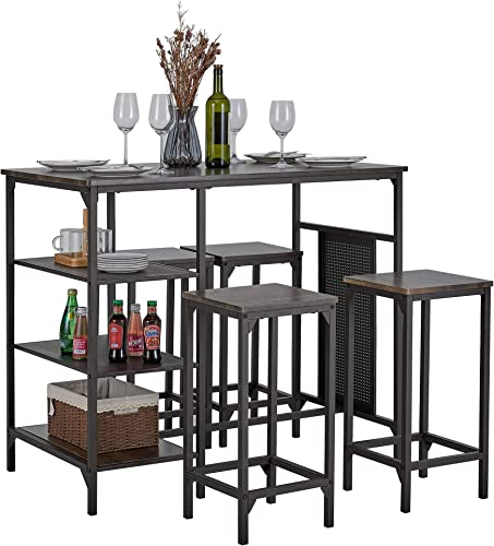 Kealive 5 Piece Dining Bar Table Set Counter Height