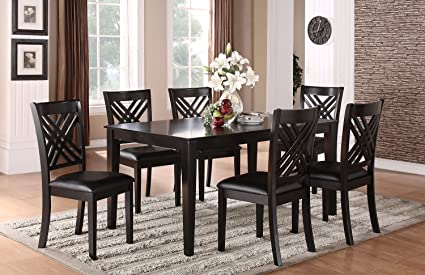 Standard Furniture 18762 Brooklyn Dining Room Set With A Table And Six  Chairs In Black