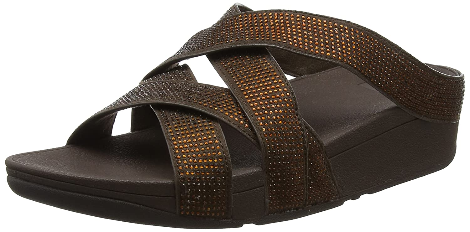 6b4459a0f80a19 Fitflop Women s Slinky Rokkit Criss-Cross Slide Open-Toe Sandals   Amazon.co.uk  Shoes   Bags