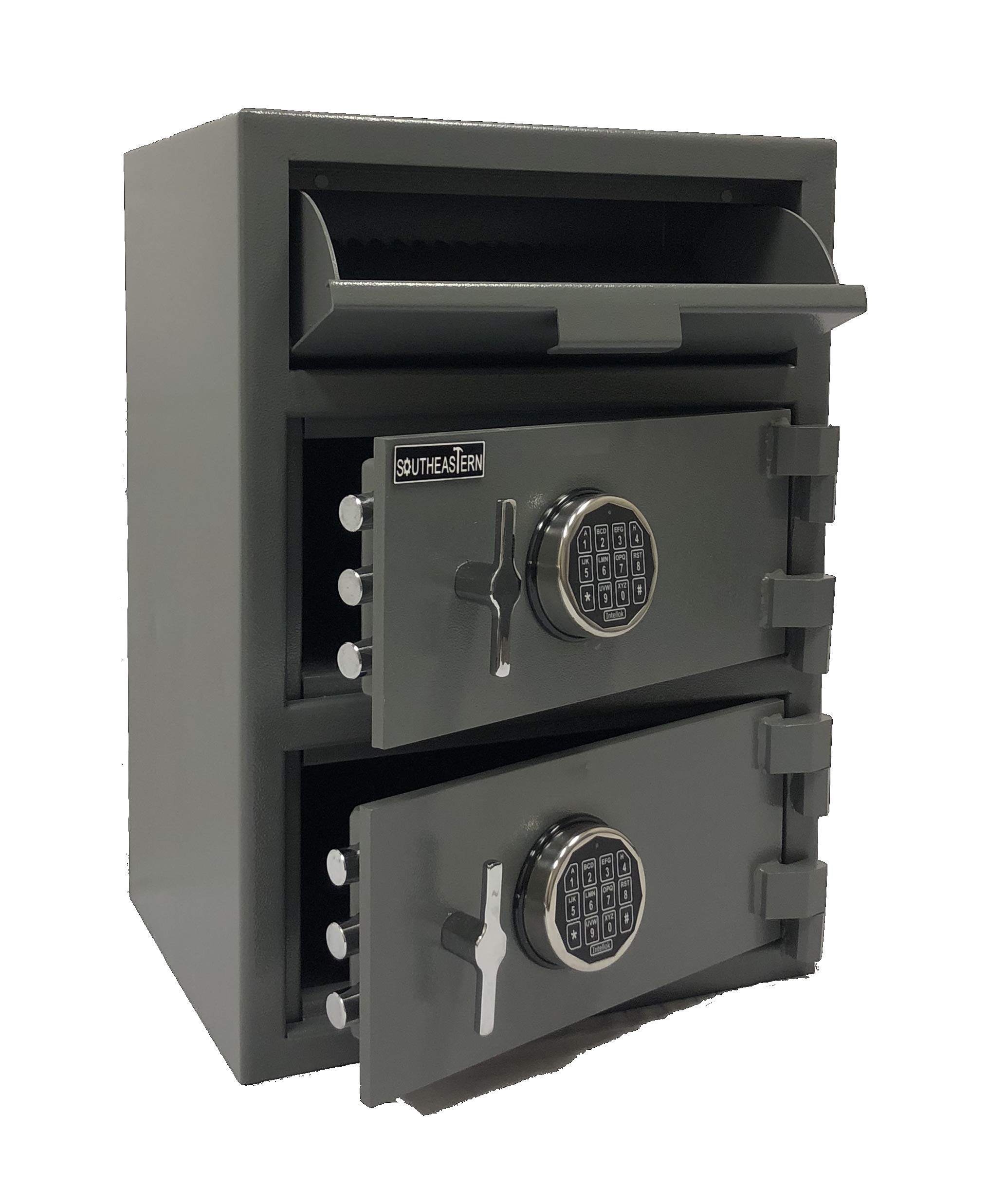 SOUTHEASTERN FL2820EE Double Door Money Bag Drop Depository Safe with UL Listed Digital Lock