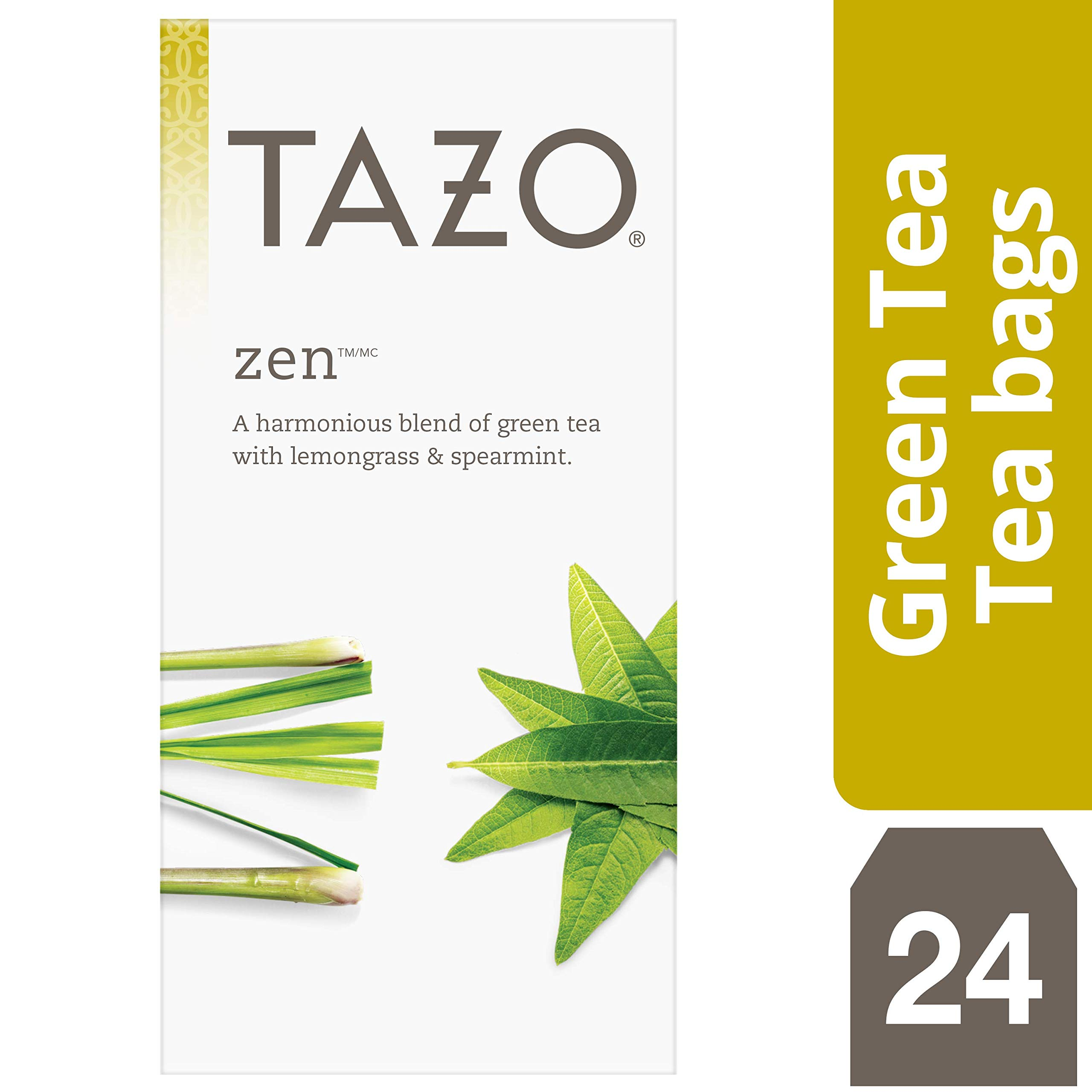 TazoHot Tea Filterbag Zen Green 24 count, Pack of 6