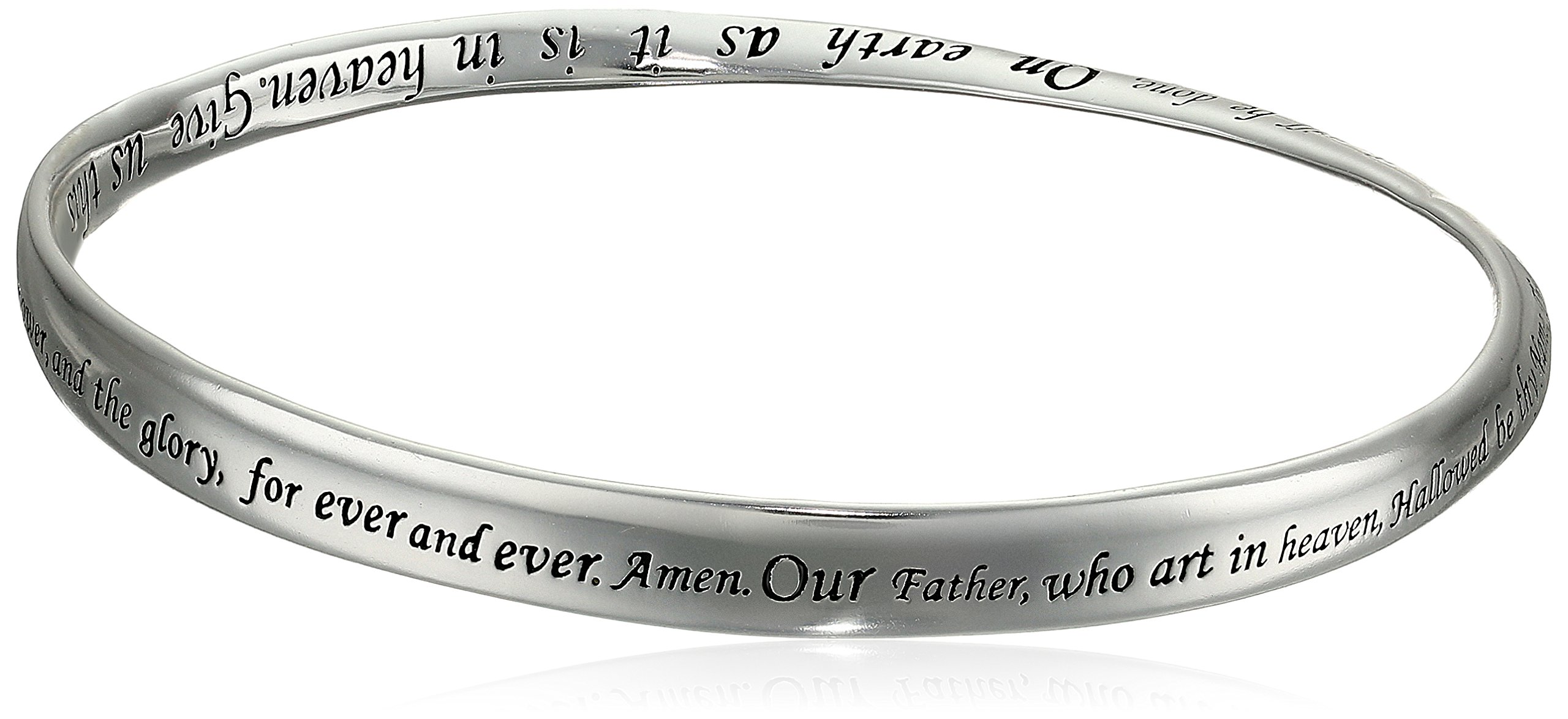 Sterling Silver ''Lord's Prayer'' Bangle Bracelet, 8.75'' by Amazon Collection (Image #2)