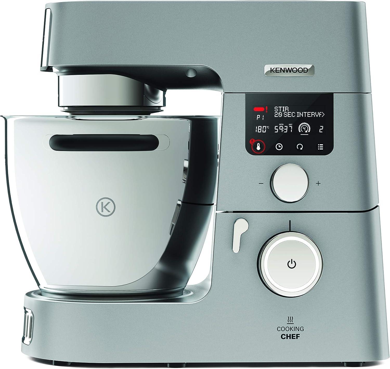 Kenwood Cooking Chef KCC9060S - Robot de cocina por inducción (20 - 180º), 1500 W, pantalla LCD, bol de 6.7 L, incluye batidora de vaso ThermoResist, procesador de alimentos y accesorios inox premium