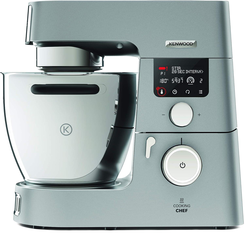 Robot de Cocina por Inducci/ón 1500W Kenwood Cooking Chef KCC9060S Bol 6.7L Pantalla LCD 20-180/º Procesador de Alimentos y Pack Accesorios Inox Premium Incluye Batidora de Vaso ThermoResist