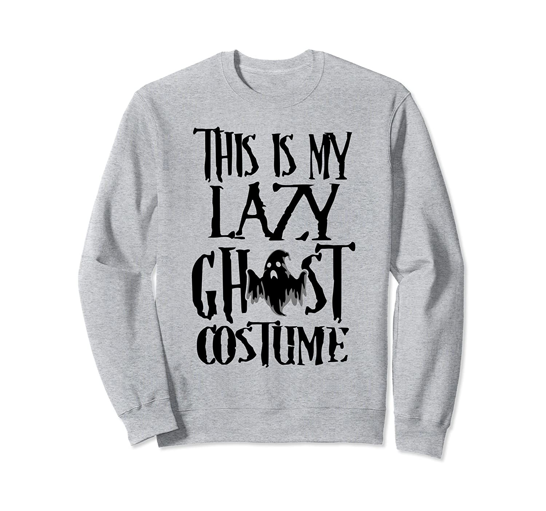 Lazy Ghost Costume Funny Halloween Party Sweatshirt-ln