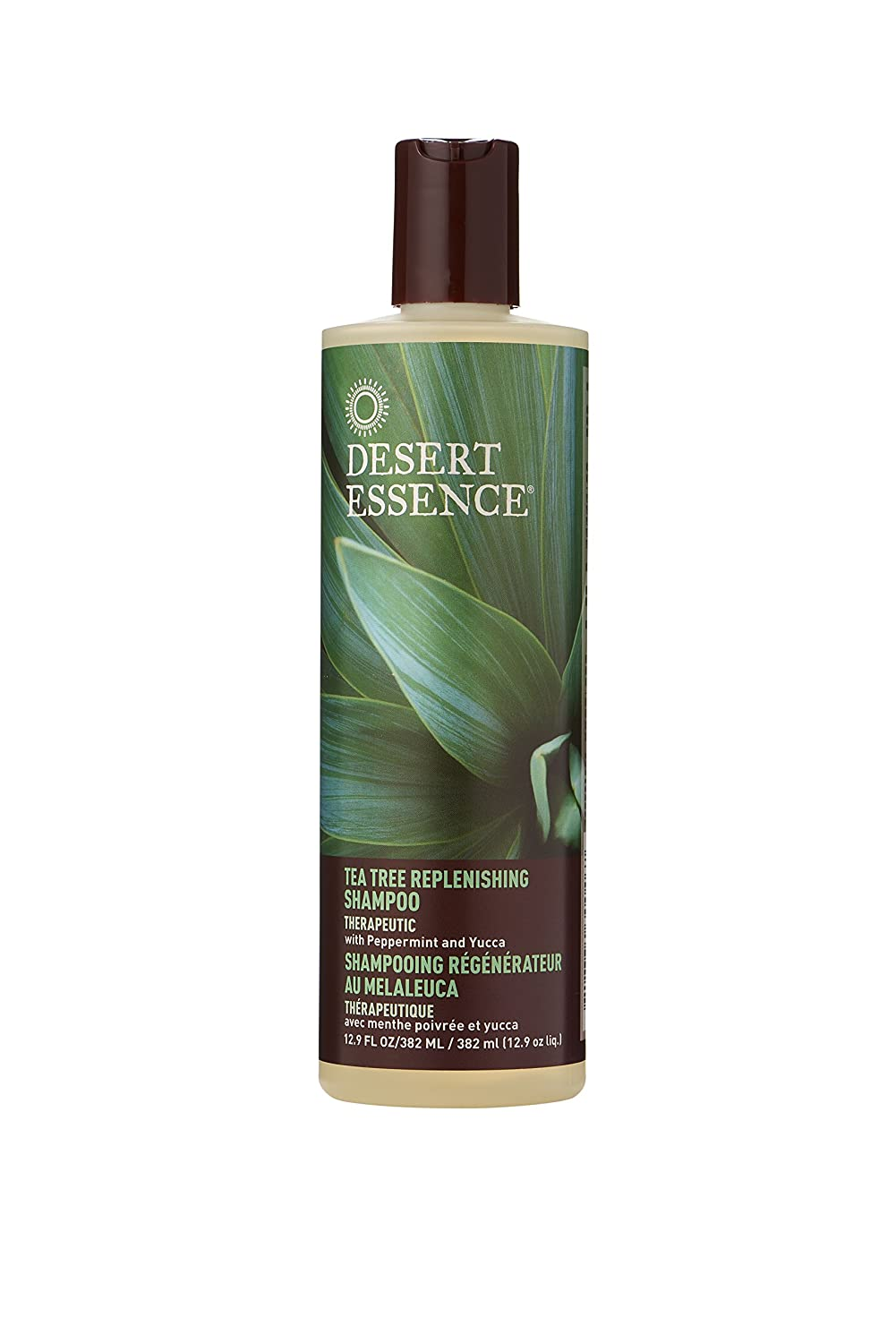 Desert Essence Tea Tree Replenishing Shampoo and Conditioner Bundle - 12.7 Fl Ounce - Therapeutic - Peppermint & Yucca - All Skin Types - Tea Tree Oil - Antibacterial - Restore & Nurture Hair