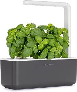 Click & Grow Smart Garden 3–Jardinera de Interior 30x 10x 28cm Gris Antracita