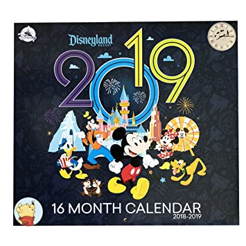 Disney Parks 2018 2019 Disneyland Resort 16 Month Calendar Bonus