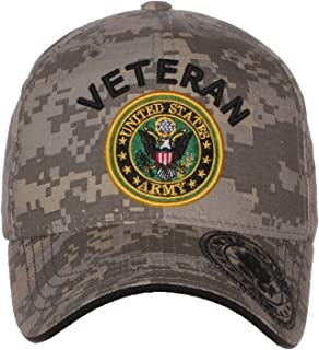 4ad1df8f327 US Army Official License Structured Front Side Back and Visor Embroidered Hat  Cap