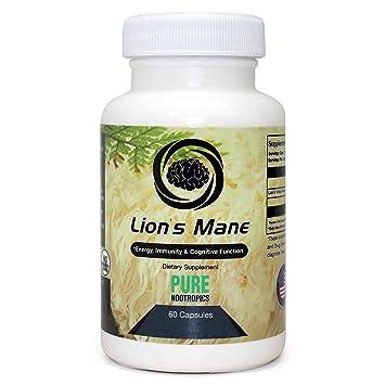 Amazon Com Lions Mane Hericium Erinaceus Mushroom Capsules By