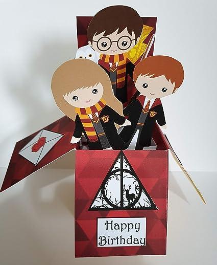 Tarjeta de cumpleaños hecha a mano inspirada en Harry Potter ...