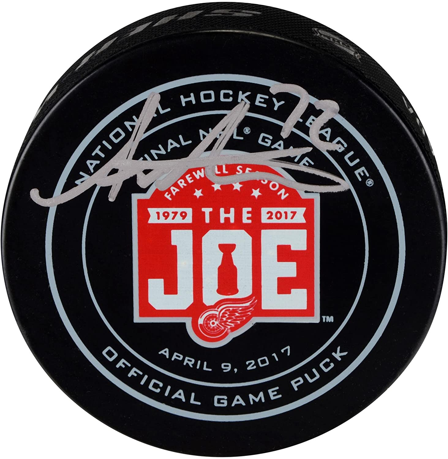 Andreas Athanasiou Detroit Red Wings Autographed Final Season at the Joe Official Game Puck - Fanatics Authentic Certified