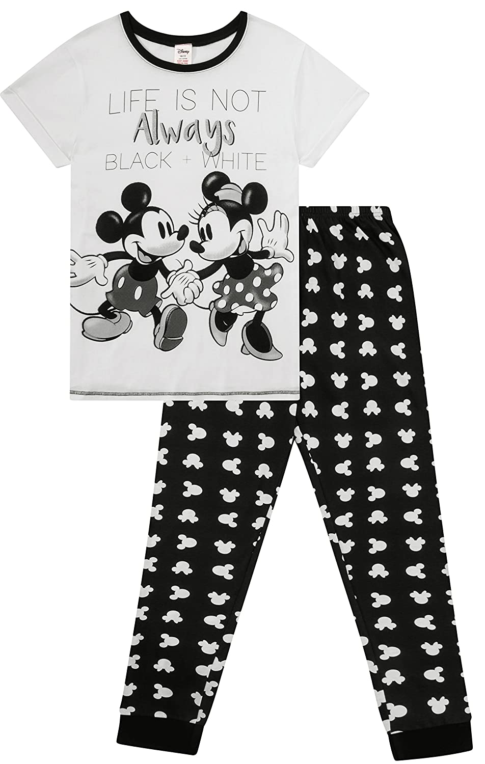 Disney's Minnie and Mickey Ladies Life is Not Always Black and White Pyjamas