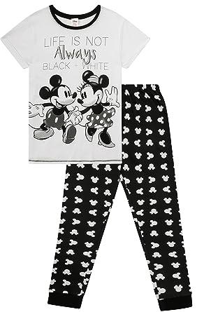8edcc97c71 Disney s Minnie and Mickey Ladies Life is Not Always Black and White Pyjamas  (20-