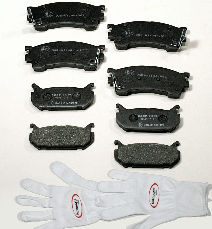 Autoparts-Online Set 60007029 Bremsbel/äge//Bremskl/ötze//Bremsen Vorne Hinten