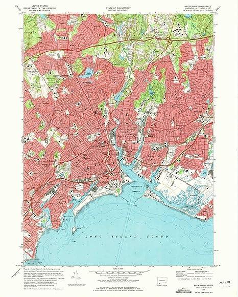 Amazon.com : YellowMaps Bridgeport CT topo map, 1:24000 Scale, 7.5 X ...