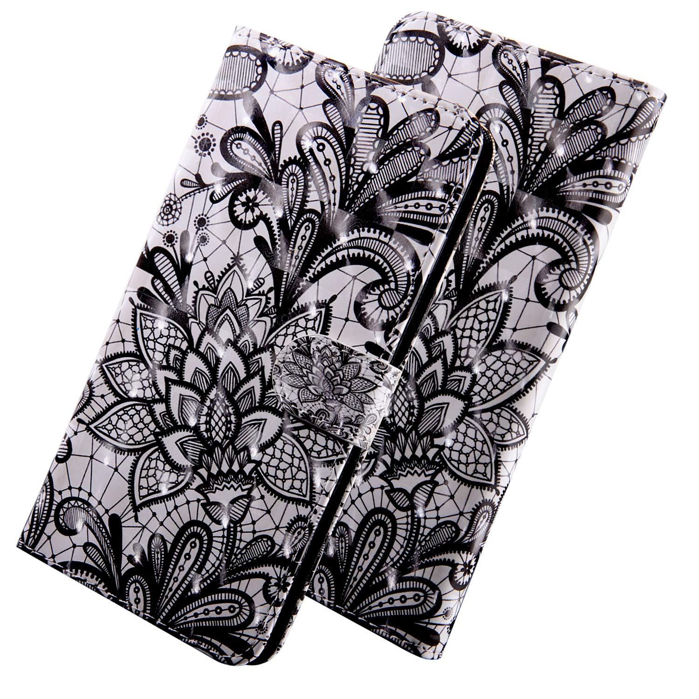 Schutzh/ülle Huawei Y5 2017 HUDDU 3D Bunt Huawei Y6 2017 H/ülle Leder Standfunktion Kartenf/ächer Magnet Handyh/ülle Extra D/ünn Klapph/ülle Lederh/ülle Lanyard Tasche PU Wallet Case Cover Katze