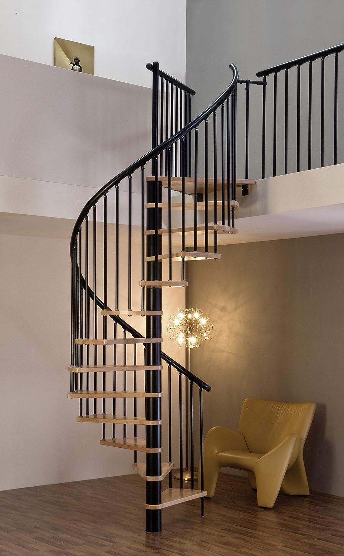 Huso escalera/ahorro de espacio escalera/escalera de caracol Sidney decor negro DM 160 cm: Amazon.es: Bricolaje y herramientas