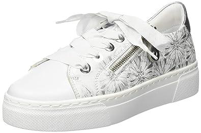 wholesale dealer 92adf fc588 Amazon.com | Remonte Women's R3101 Low-Top Sneakers, White ...