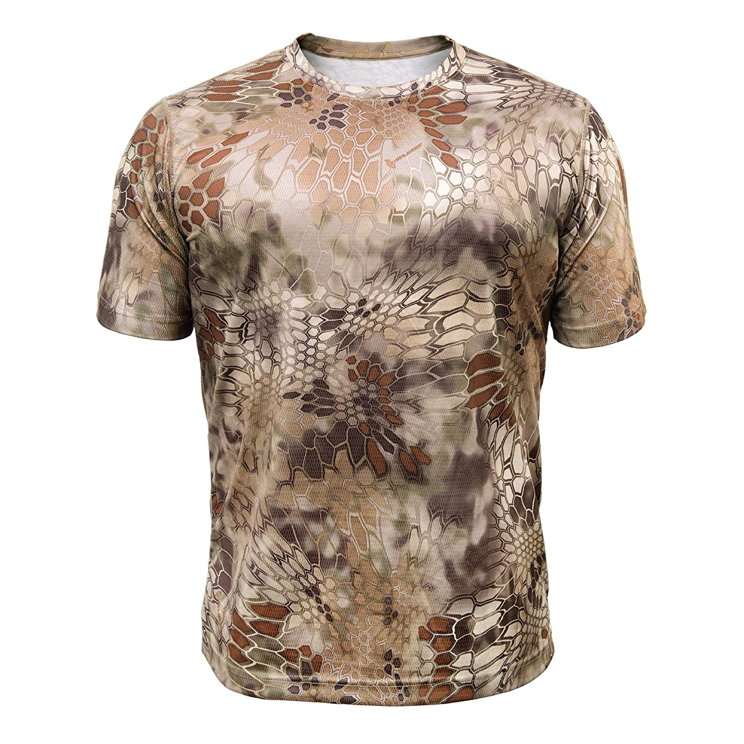 e1b0ef5671c5 Amazon.com : Kryptek Hyperion SS Crew - Short Sleeve Camo Hunting & Fishing  Shirt (K-Ore Collection) : Clothing