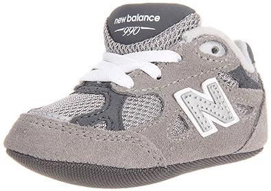 bas prix d22c6 9dfef NEW BALANCE - Chaussure de berceau à lacet gris 990, en ...