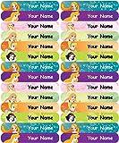 Personalised, Waterproof Mini School Name Labels - Princess Design - 36nos