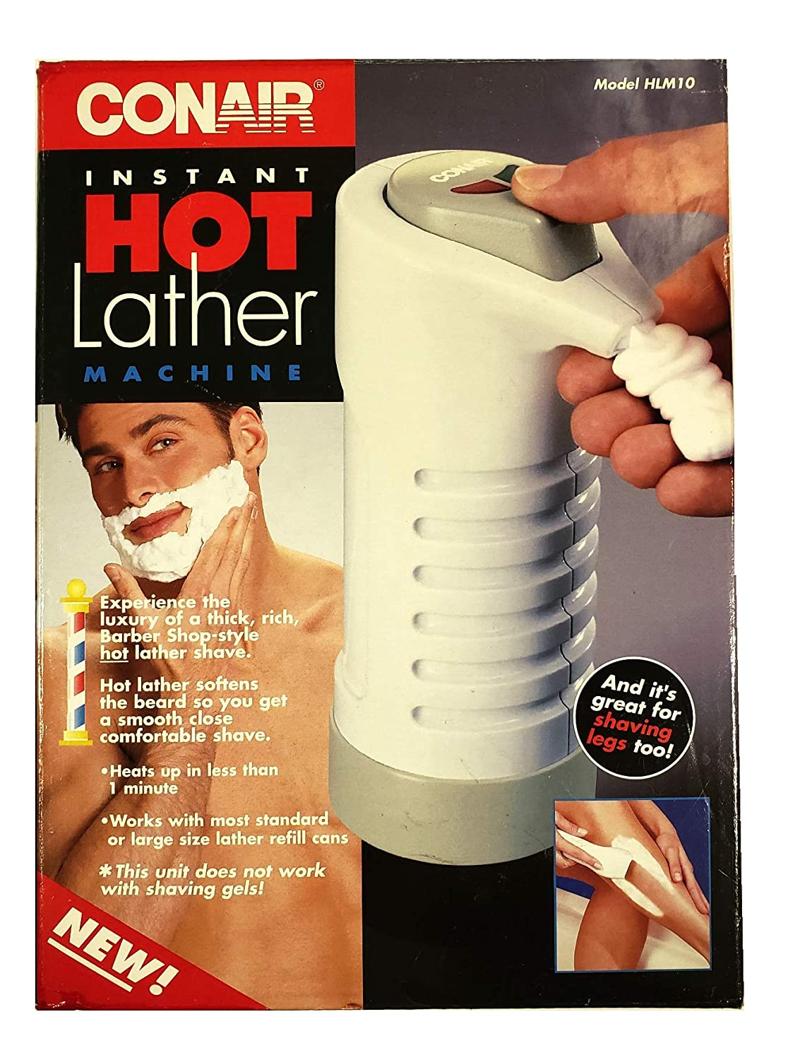 Conair Hot Lather Machine Shave Cream Warmer and Dispenser HLM10