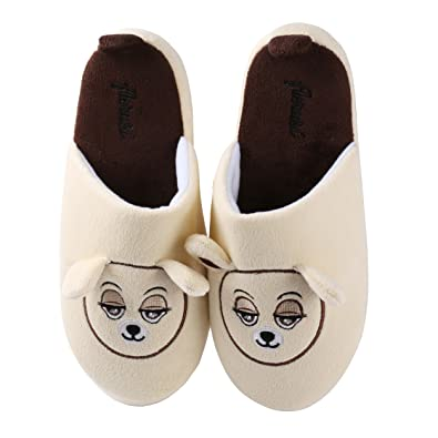 0d0d1907924f Amazon.com | Aerusi Women's Teddy Bear House Slippers | Slippers