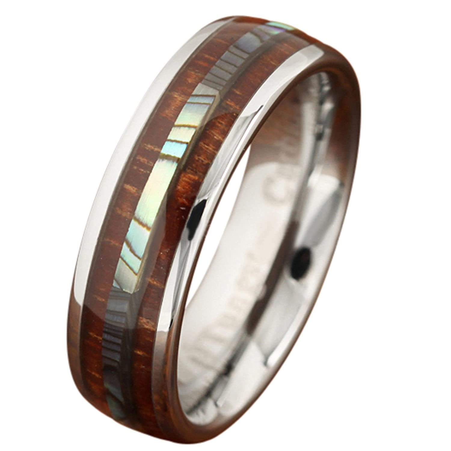 carbide tungsten black minimal totem products aurora new groove rings brushed rainbow ring with