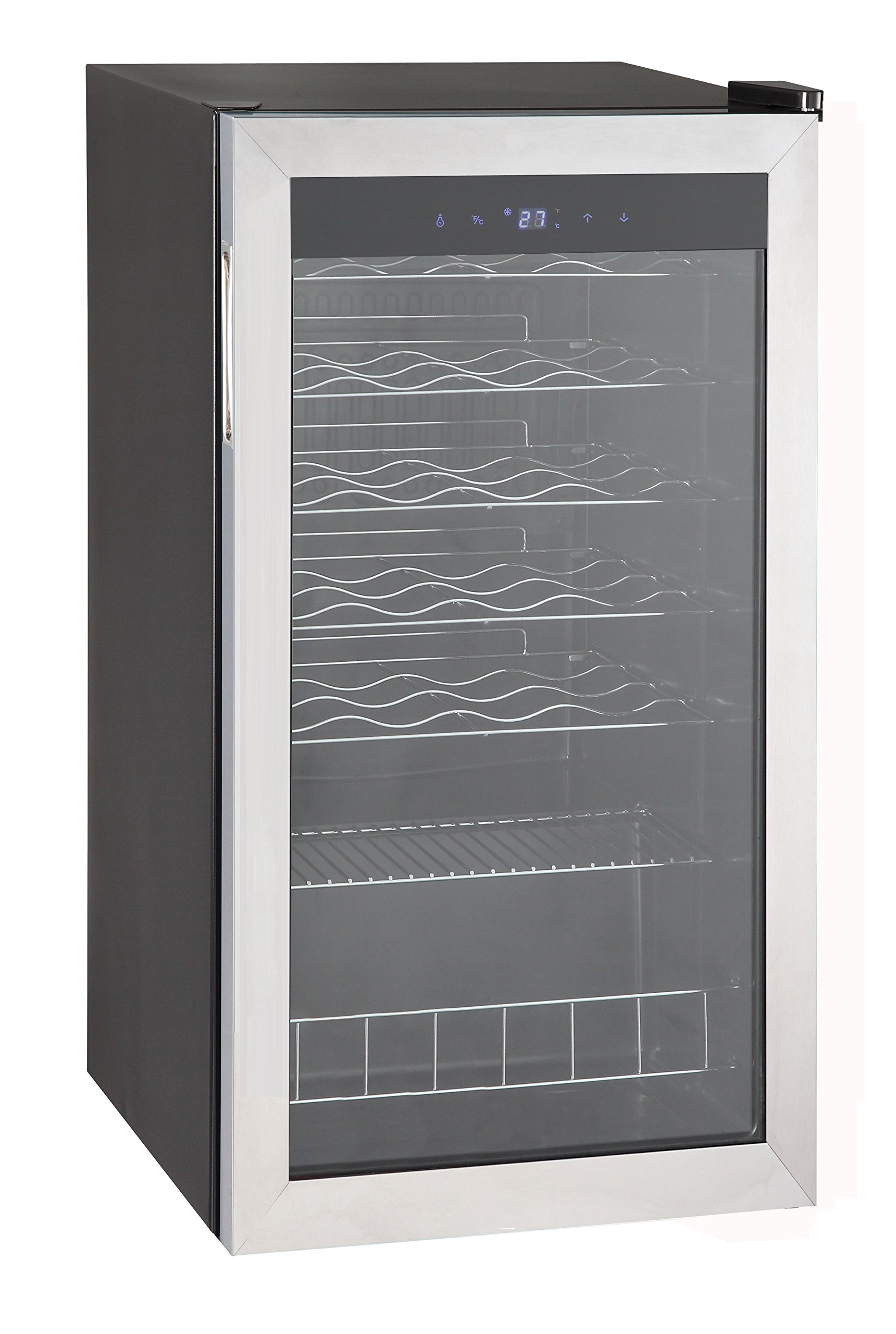 SMETA 3.1 cu ft 28 Bottles Wine Refrigerator with Stainless Steel Door Wine Cellar Fridge Freestanding Champagne Cooler