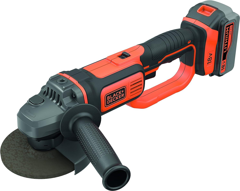 BLACK + DECKER BCG720M1-QW - Amoladora a Batería Barata más vendida