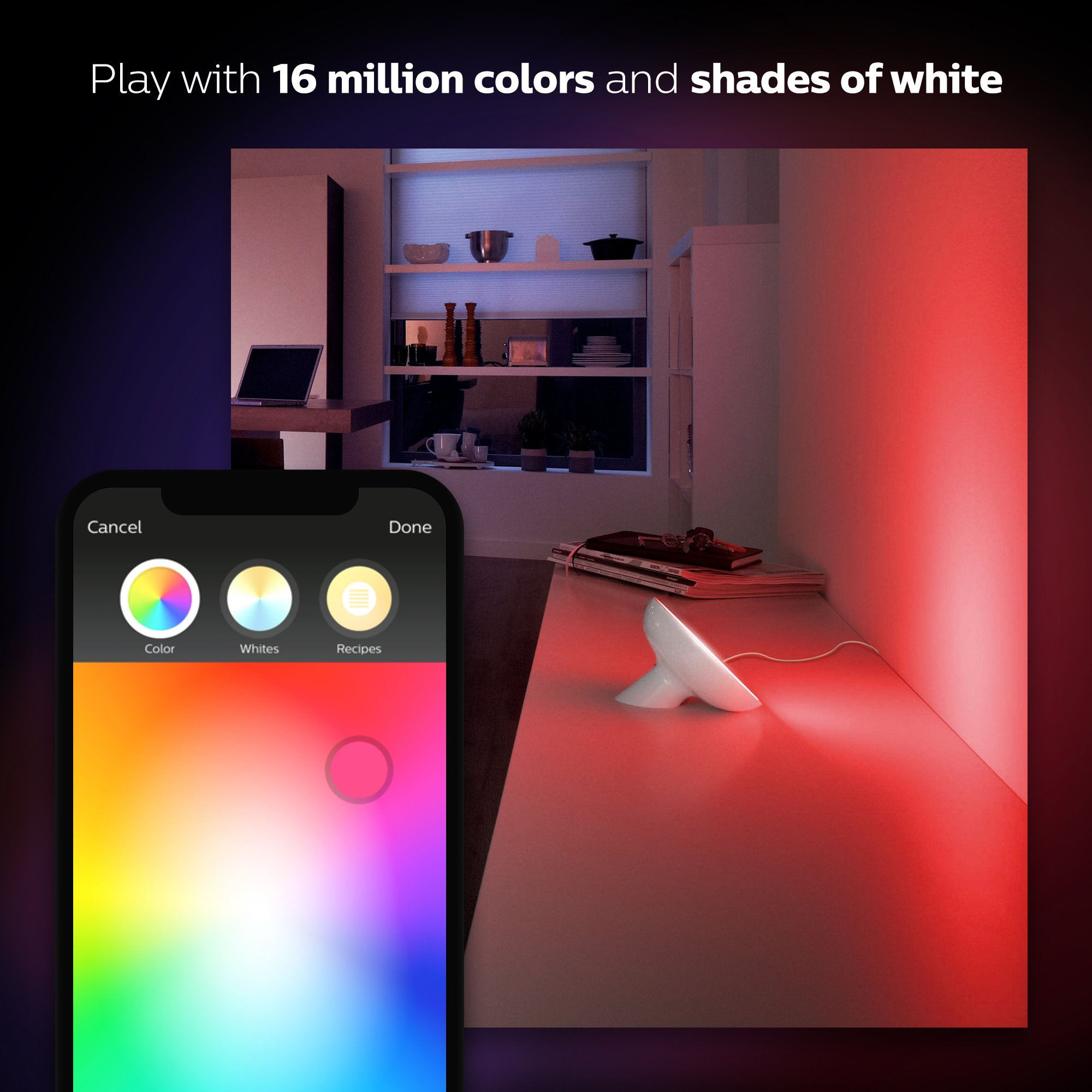 Philips Hue Bloom Dimmable LED Smart Table Lamp (Requires Hue Hub, Works with Amazon Alexa, Apple HomeKitand Google Assistant) by Philips Hue (Image #3)