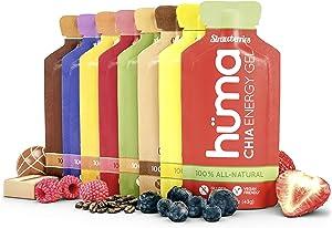 Huma Chia Energy Gel, Variety Pack - Premier Sports Nutrition for Endurance Exercise - (12 Gels, 8 Original Flavors)