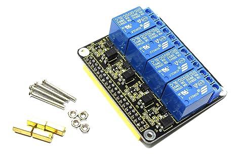 Keyestudio raspberry pi 4 kanal relaismodul ks0212 250 v ac dc