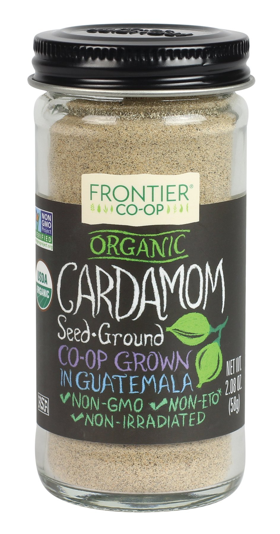 Frontier Natural Products Cardamom, Og, Ground, 2.08-Ounce