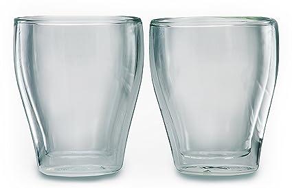 Juego de 2 Doble pared Vasos de café, – , aislantes, resistente al calor