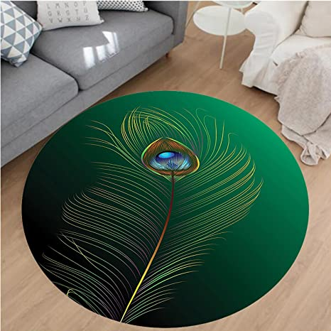 Home & Garden Home Textile Peacock Feather Printed Kitchen Area Rug Microfiber Sofa Table Floor Mats Reatangle Carpets For The Bedroom Bedside Mats