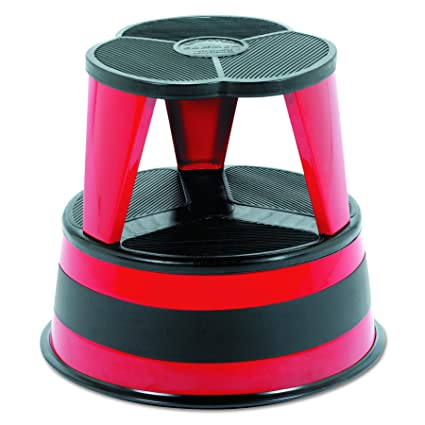 Astounding Cramer 100143 Kik Step Steel Step Stool 350 Lb Cap 16 Dia X 14 1 4H Red Customarchery Wood Chair Design Ideas Customarcherynet