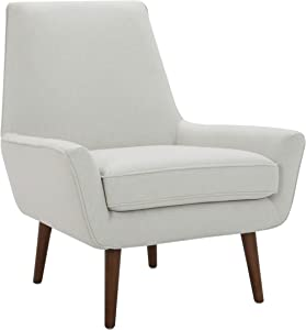 "Amazon Brand – Rivet Jamie Mid-Century Modern Low Arm Accent Chair, 31""W, Chalk"