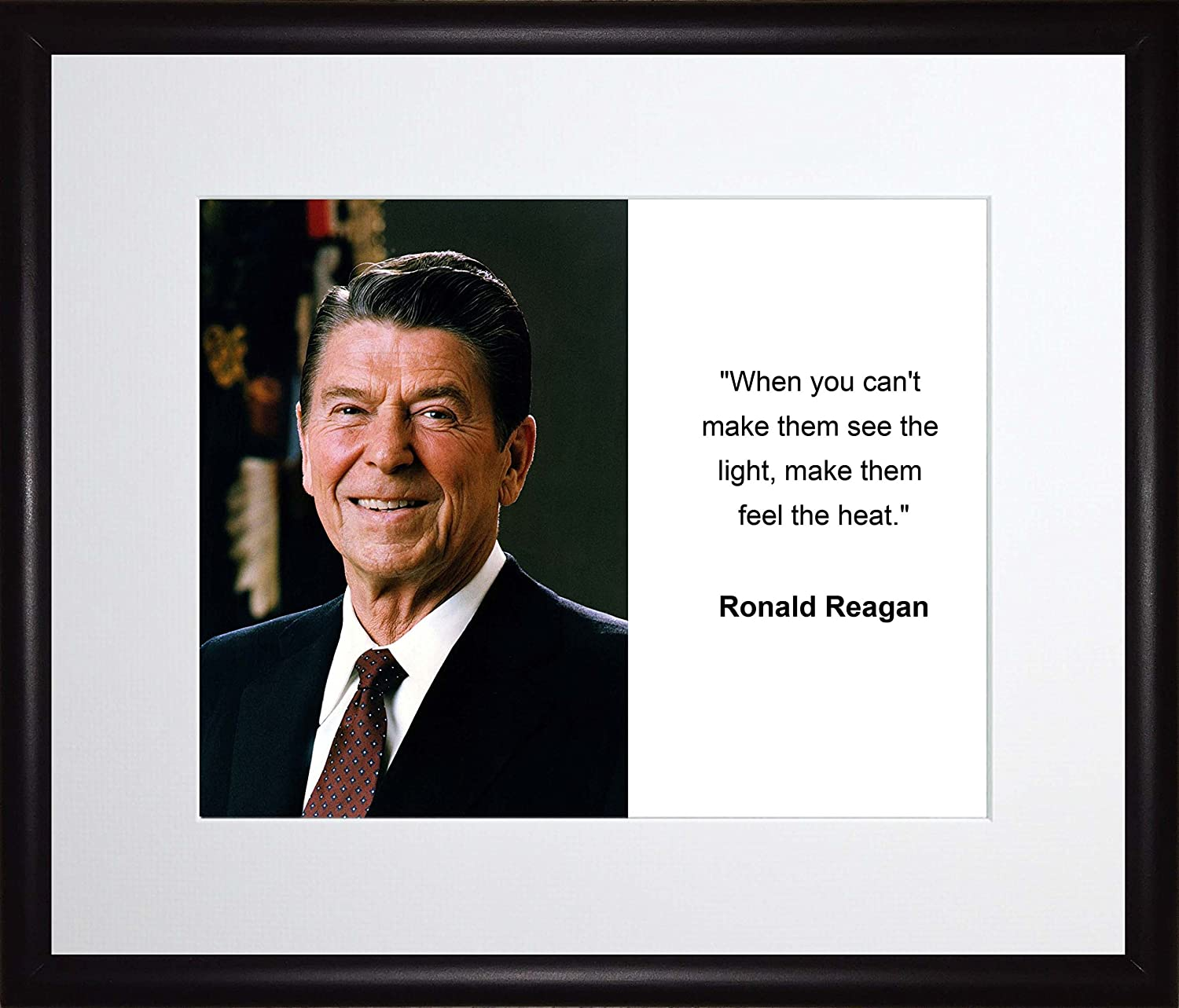 Ronald Reagan When You Cant Make Them See Quote 11x13 Matted to 8x10 Framed Picture