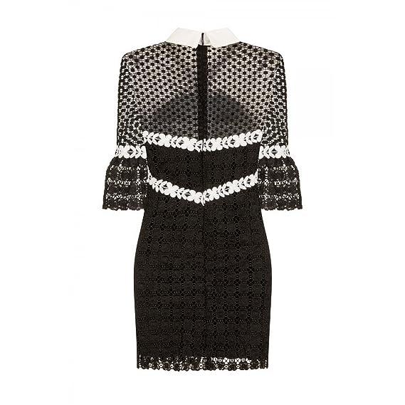 048a3215962b Little Mistress Womens/Ladies Celestial Lace Collar Dress (M/L) (Black