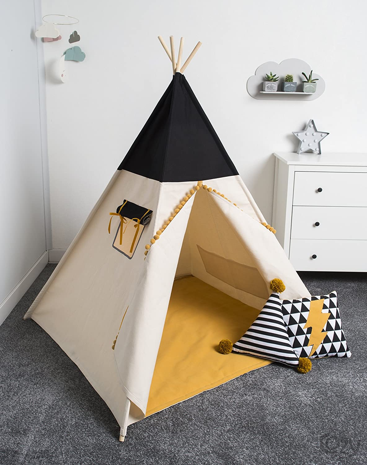 handmade spielzelt kinderzelt indianisches tipi zelt handmade spielzelt tipi kinderzelt. Black Bedroom Furniture Sets. Home Design Ideas