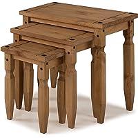 mercers furniture Corona–Piccolo, Juego de 3mesas encajables–Pino