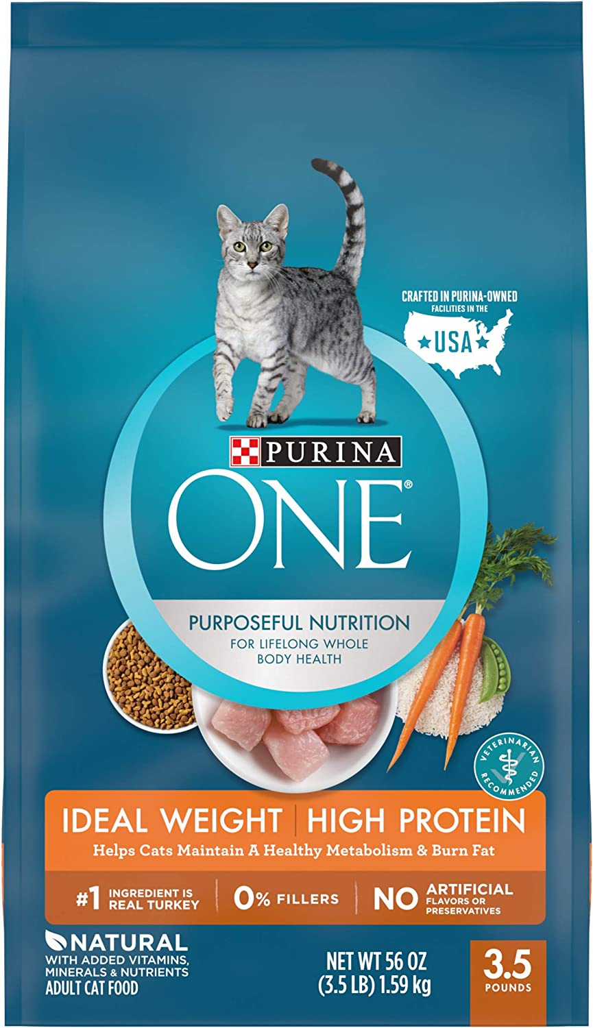 Purina ONE Weight Control, Natural Dry Cat Food, Healthy Metabolism - 3.5 lb. Bag